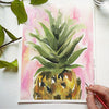 Pink Pineapple Watercolor Kit