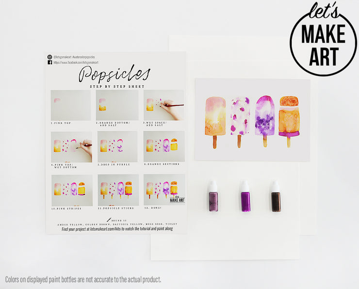 Summer Popsicles Watercolor Kit