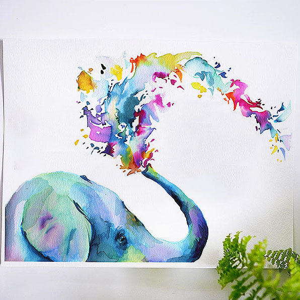 Rainbow Elephant Watercolor Kit