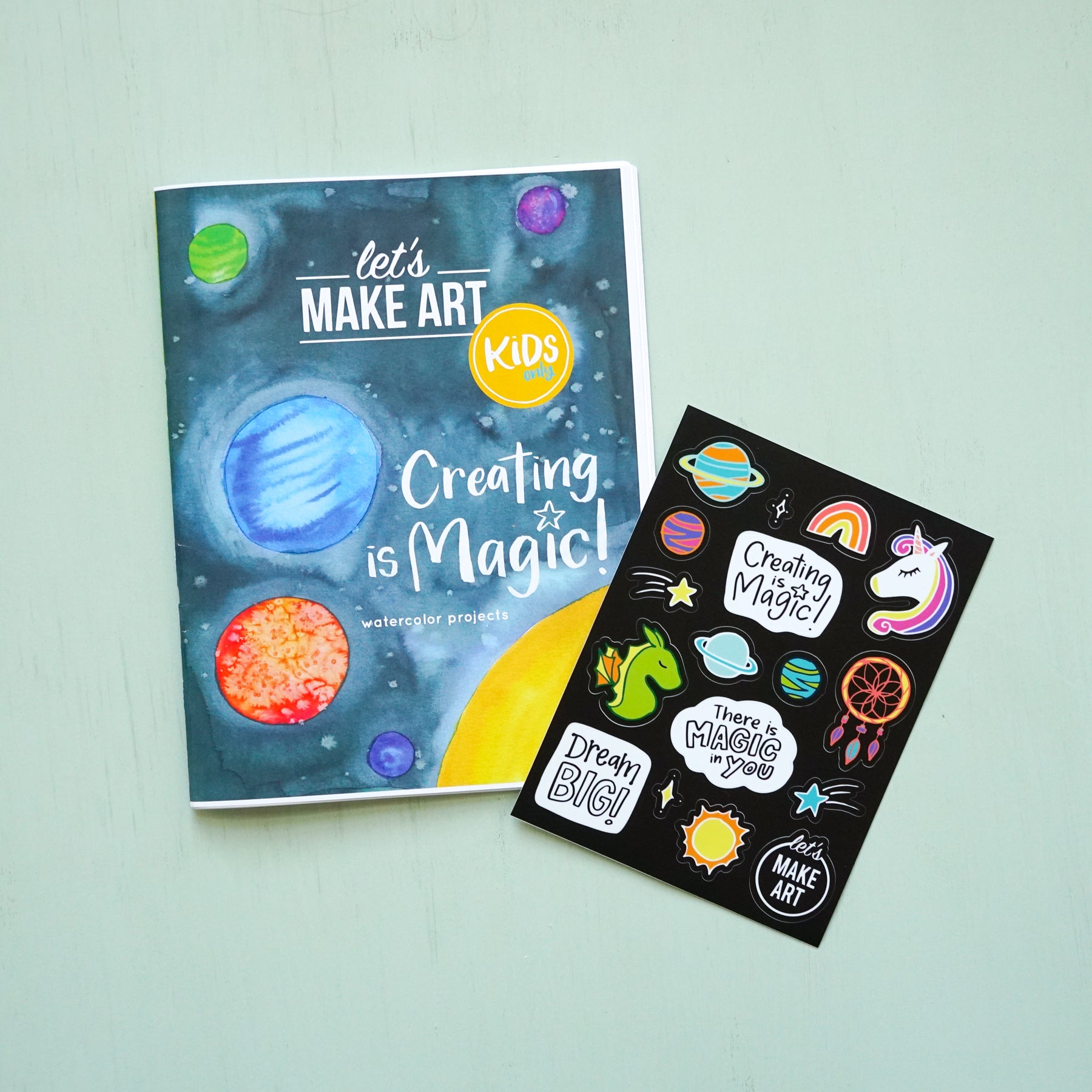 Creating is Magic Zine and Stickers