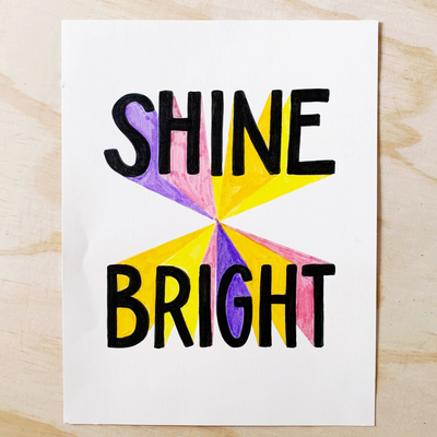 Shine Bright Lettering Kit