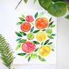 Sliced Citrus Watercolor Paint Kit