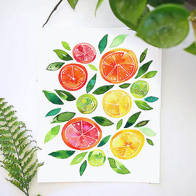 Sliced Citrus Watercolor Kit