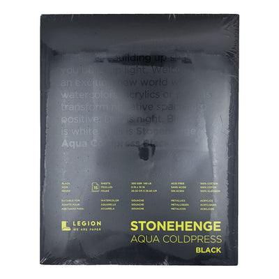 Stonehenge Aqua Coldpress Black Watercolor Pad