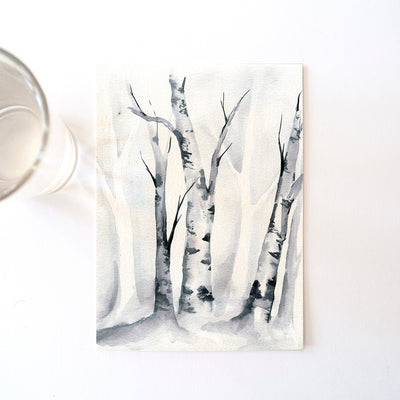 Birch Trees Watercolor Kit