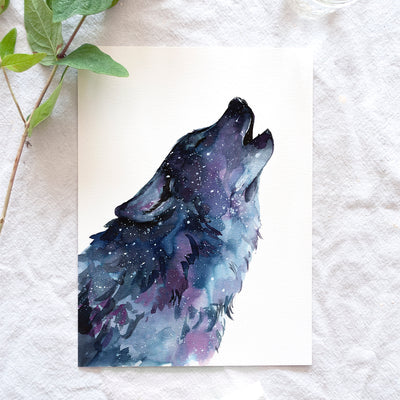 Galaxy Wolf Watercolor Kit