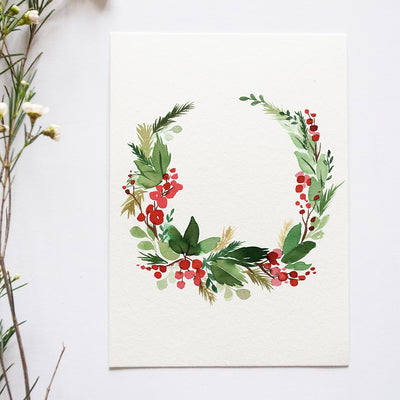 Holiday Wreath Watercolor Kit
