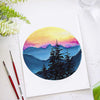 Sunset Mountain Watercolor Paint Kit