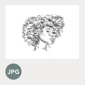 """Hair"" - 8x10 Art Printable by Taylor Nieft"