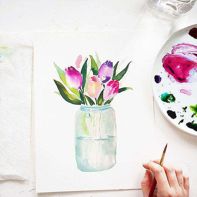 Tulip Jar Watercolor Kit