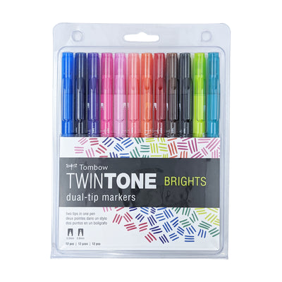 TwinTone Dual-Tip Markers Bright Set (12 pack)