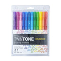 TwinTone Dual-Tip Markers Rainbow Set (12 pack)