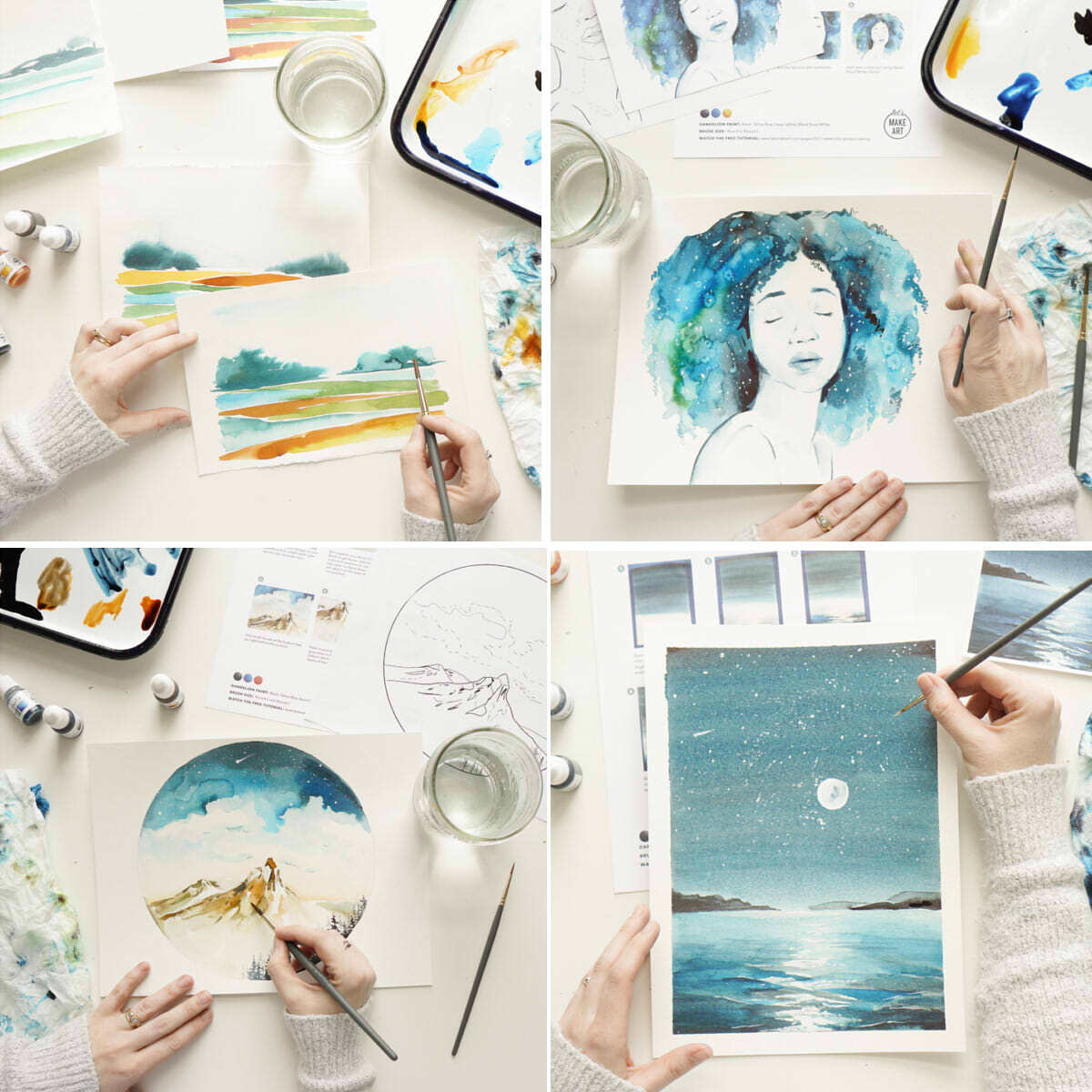 Blue Vibes Watercolor Box