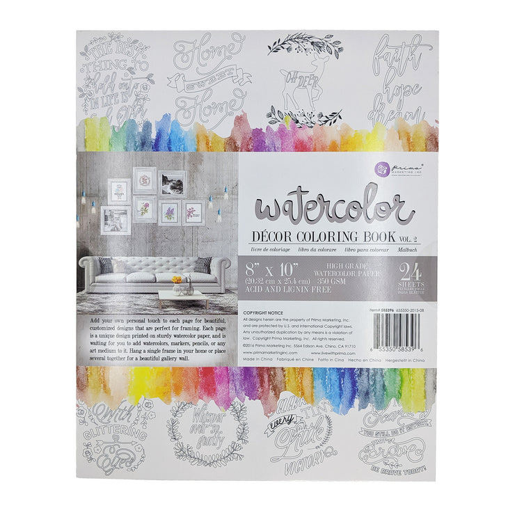 Watercolor Coloring Book Vol. 2