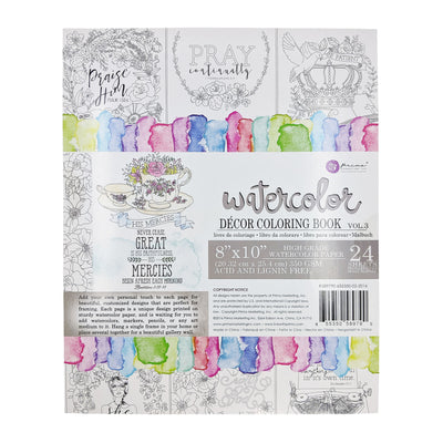 Watercolor Coloring Book Vol. 3