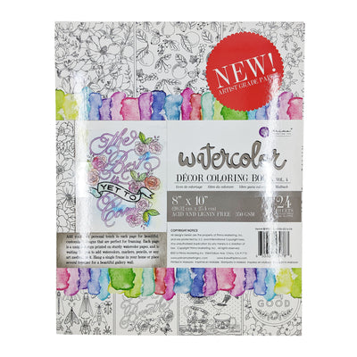 Watercolor Coloring Book Vol. 4