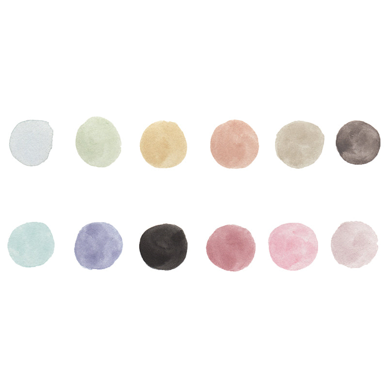 Watercolor Confections: Vintage Pastels Set