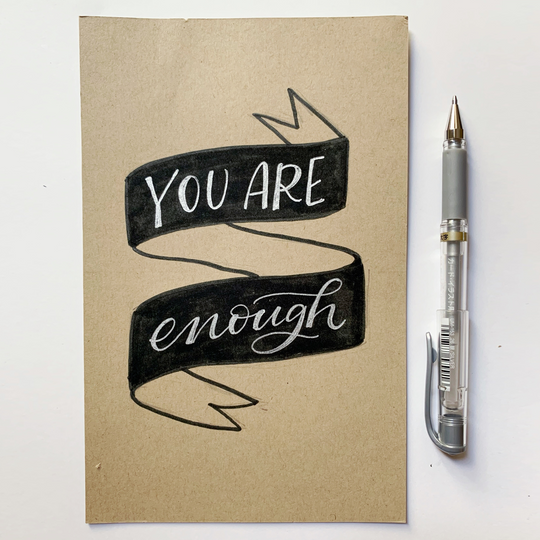 You Are Enough Banner Lettering Kit