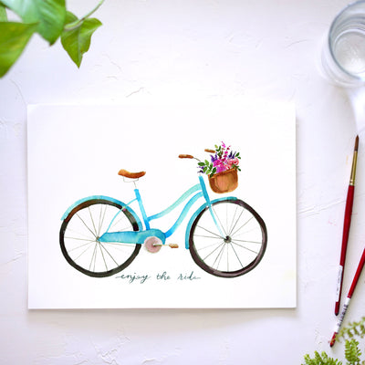 Summer Bicycle Watercolor Kit