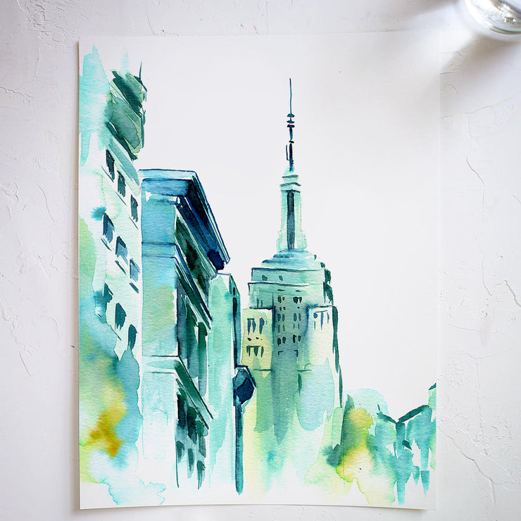 Blue Buildings Watercolor Kit