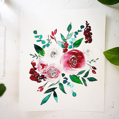 December Florals Watercolor Kit