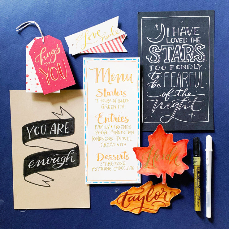 Extra Fall Lettering Box