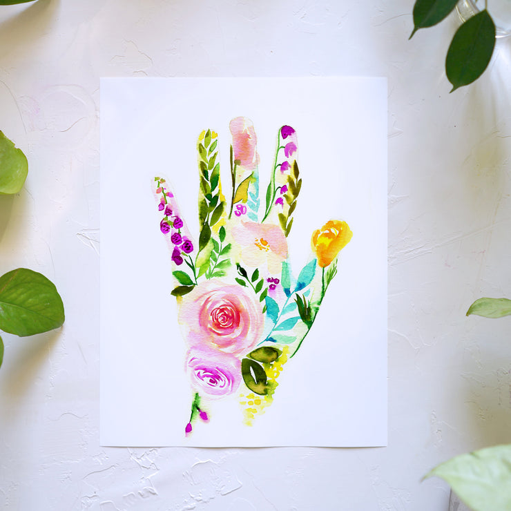 Floral Hand Watercolor Kit