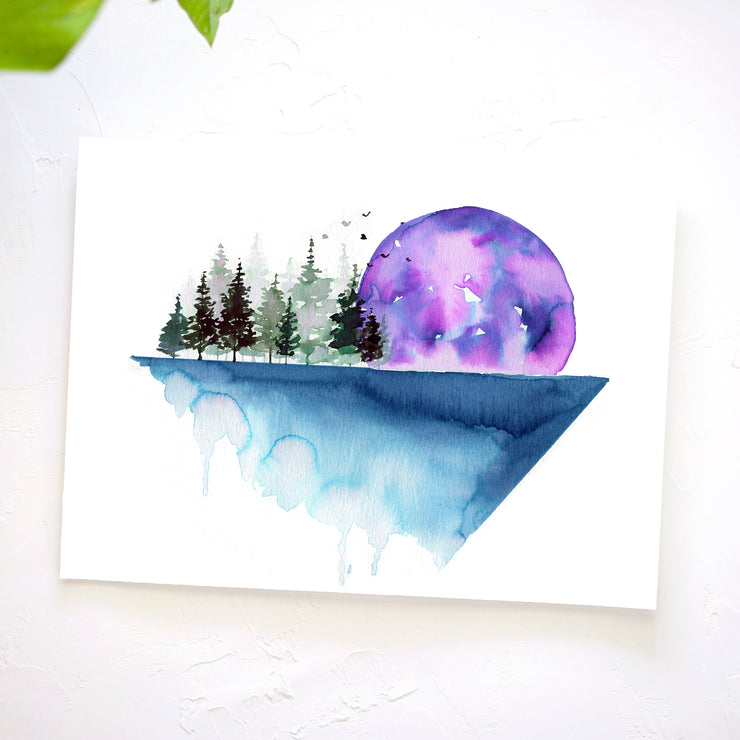 Geometric Landscape Watercolor Kit