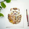 Hedgehog Watercolor Paint Kit