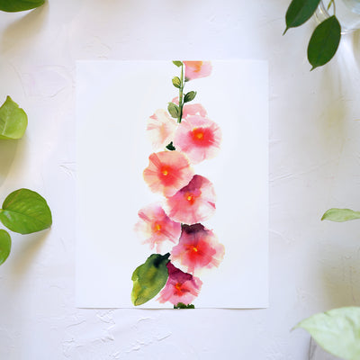 Hollyhock Watercolor Kit