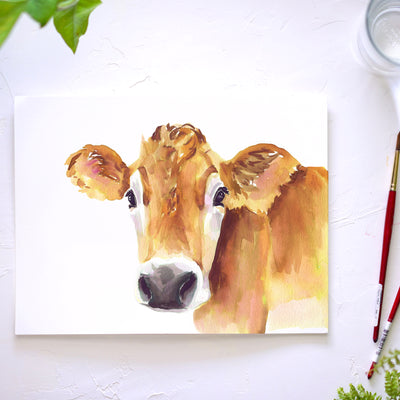 Jersey Cow Watercolor Kit