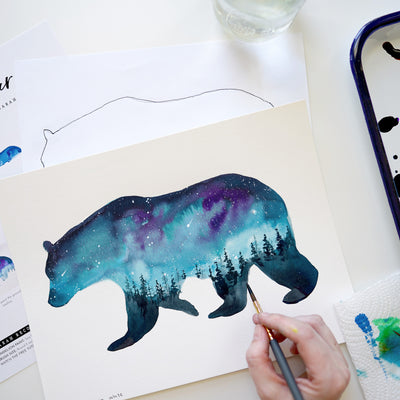 Forest Bear Watercolor Kit