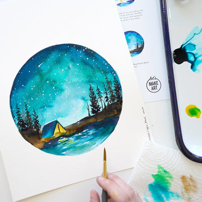 Night Camping Watercolor Kit