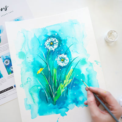 Dandelions Watercolor Kit
