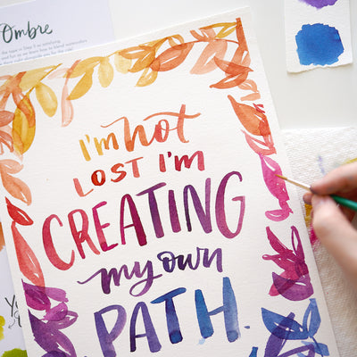 Creating Ombre Lettering Kit