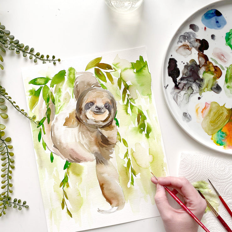 Sloth Watercolor Kit