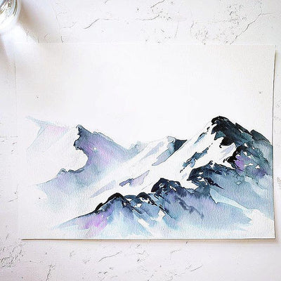 Snowy Mountains Watercolor Kit