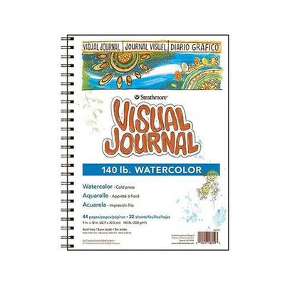 "Watercolor Visual Journal Large 9"" x 12"""