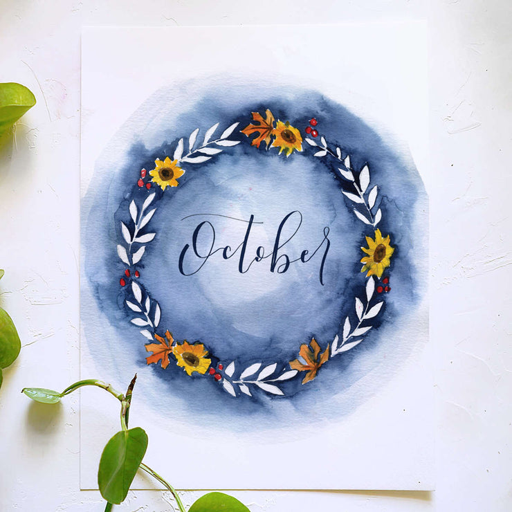 Fall Wreath Watercolor Kit