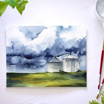Moody Silos Watercolor Kit