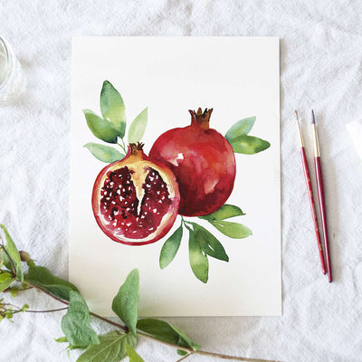 Pomegranate Watercolor Kit
