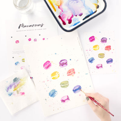 Macaroons Watercolor Kit