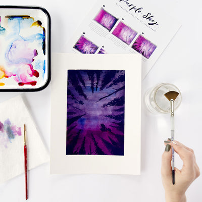 Purple Sky Watercolor Kit