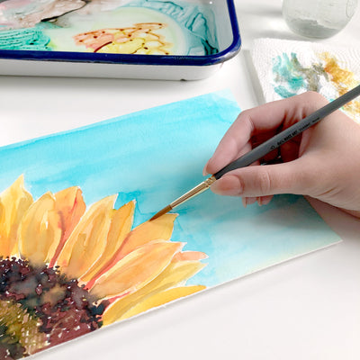 Summer Sunflower Watercolor Kit