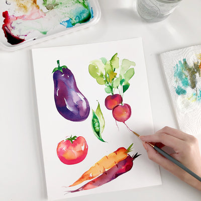 Summer Vegetables Watercolor Kit