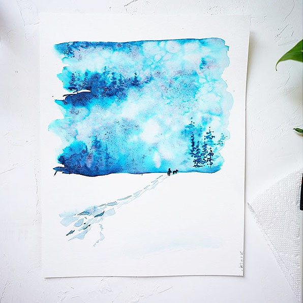Winter Snowstorm Watercolor Kit