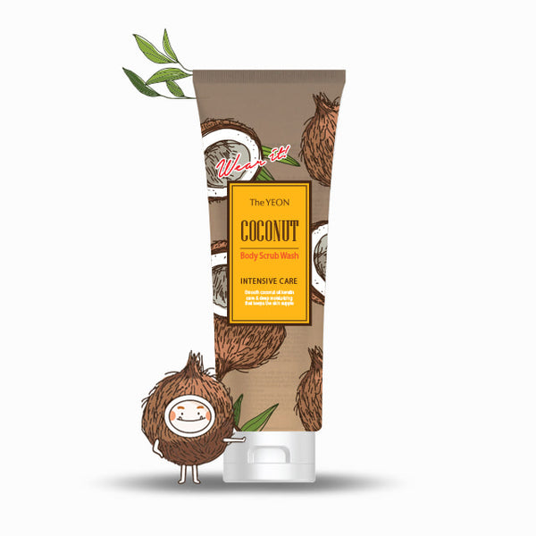 Coconut Body Scrub Wash (250 ml/Net wt. 8.45 oz)