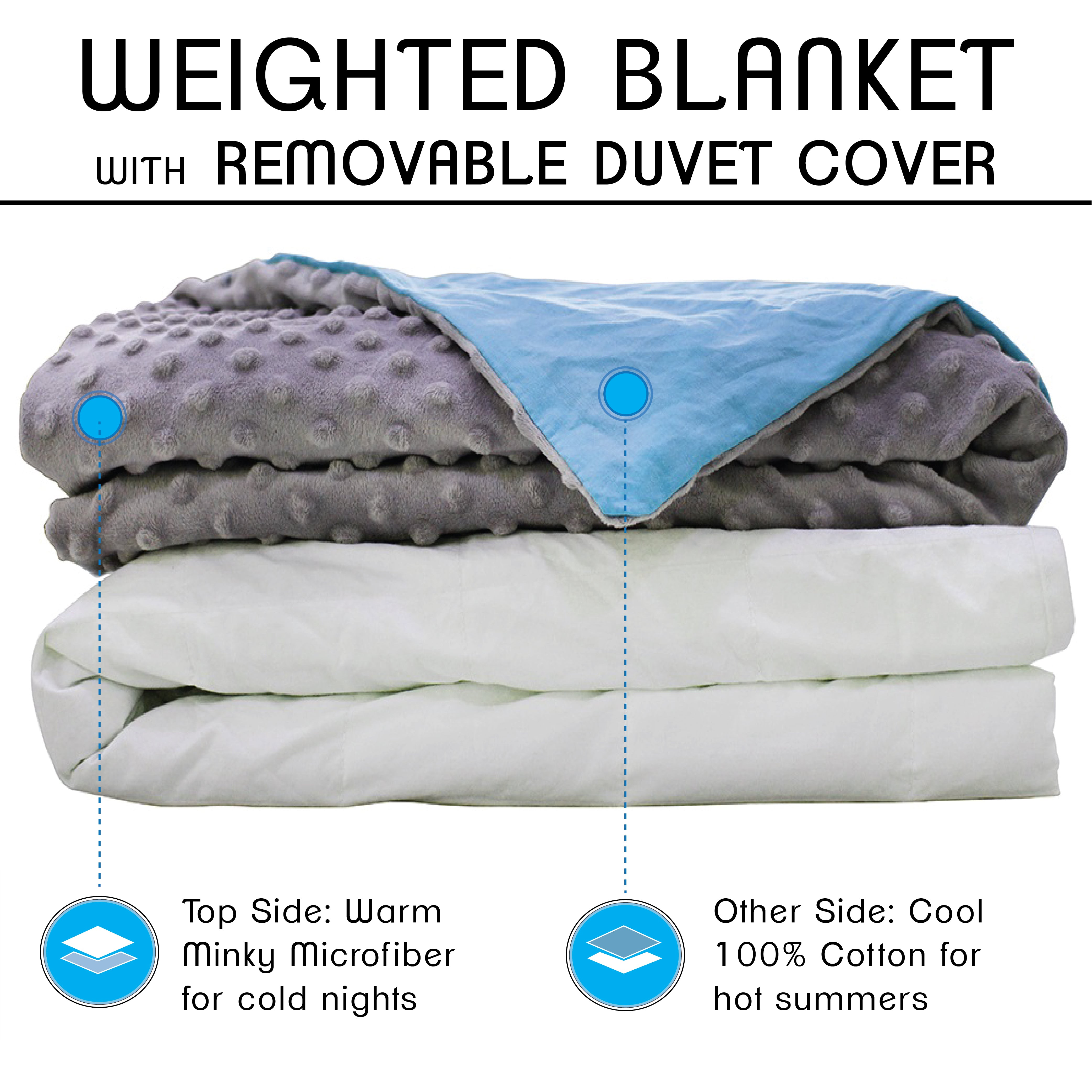 CMFRT Cozy Weighted Blanket Set with Duvet Cover for Adults