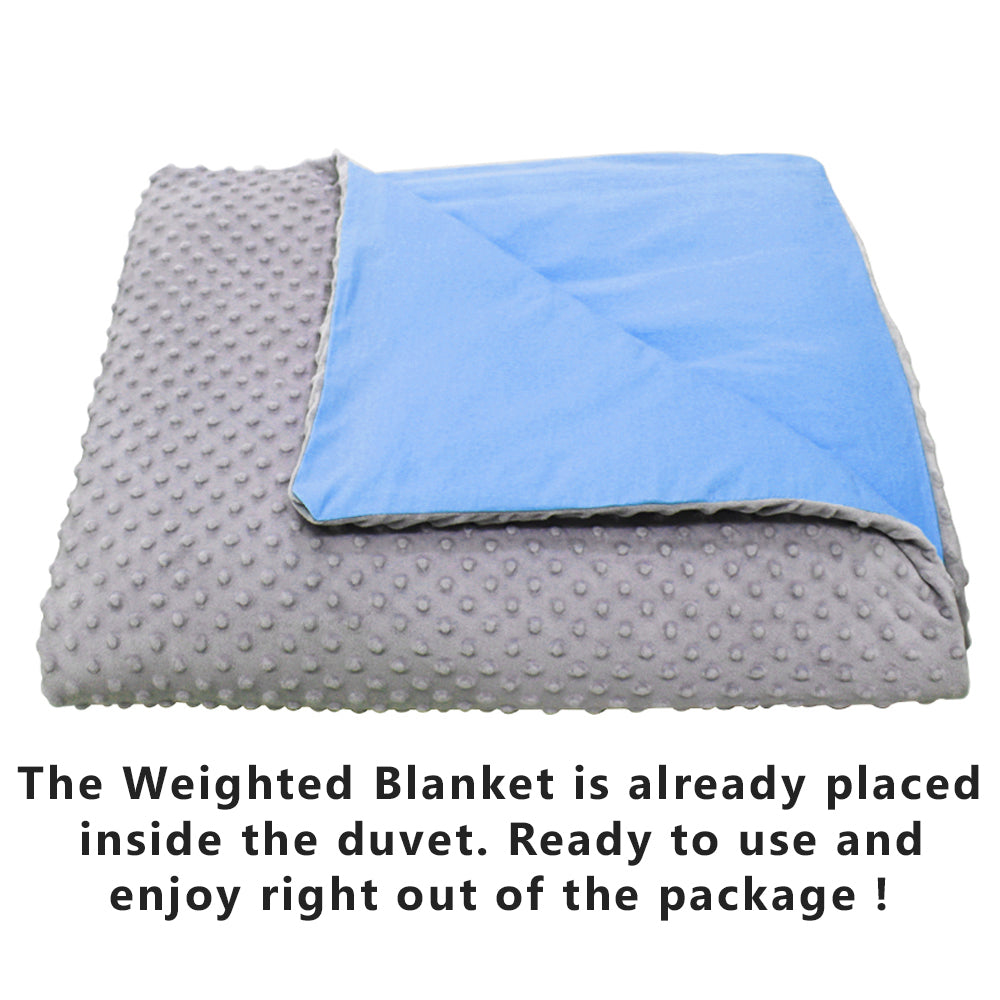 CMFRT Cozy Weighted Blanket Set with Duvet Cover for Children