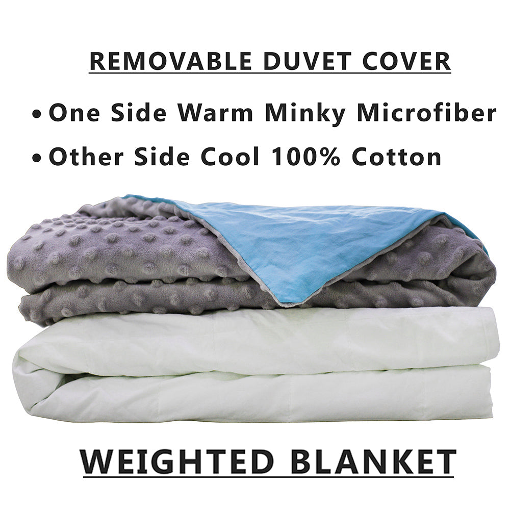 CMFRT Cozy Weighted Blanket Set with Duvet Cover for Teens